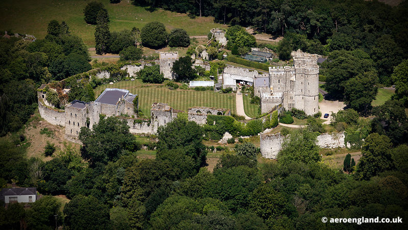 aerial photograph of  Saltwood Castle Kent  England UK
