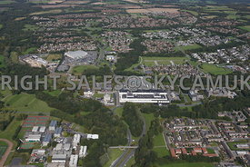 Skelmersdale high level view of the Concourse Shopping centre and  offices with Asda supermarket in the background
