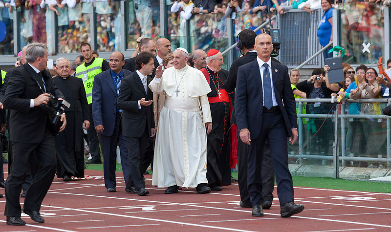 Pope Francis Meets The Movement Of The Renewal of the Holy Spirit at the Olympic Stadium in Rome.