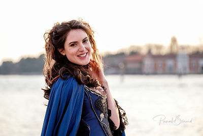Romantic Woman in Venice
