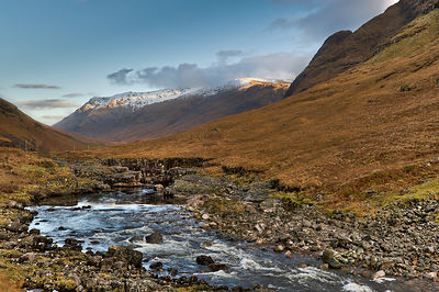 Rapids, Glen Etive, autumn