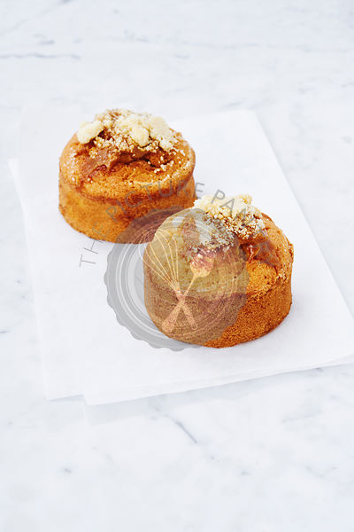 apple crumble tea-cakes, elevated view