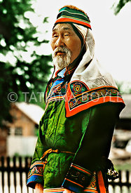 Udege Tribe Shaman - medicine man, Udege people; Far East, Russian Federation | Color reversal film