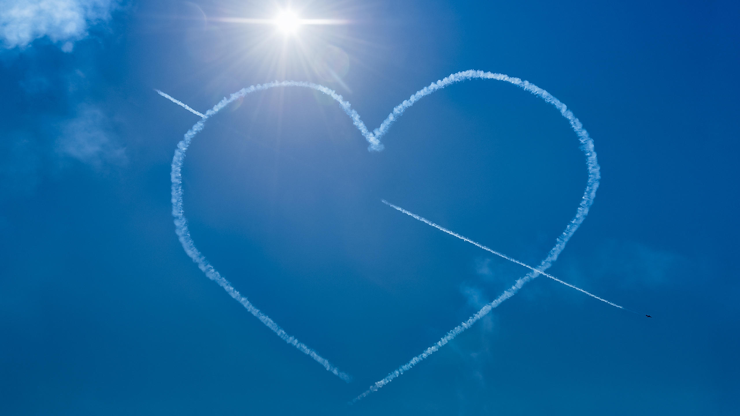 Red Arrows Create a Heart in the Sky