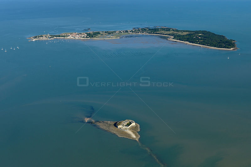 Fort Enet and Ile d'Aix, Charente-Maritime, France, Atlantic Coast. July 2017.