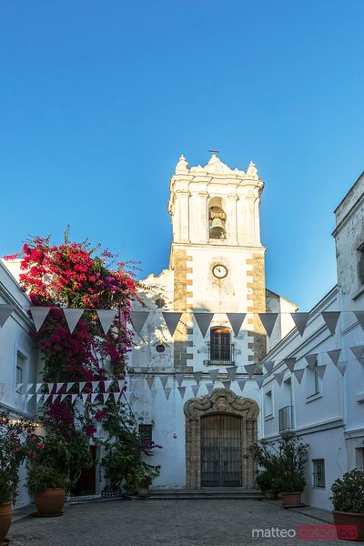 Spain, Andalusia, Cadiz province, Tarifa. Church in the old town