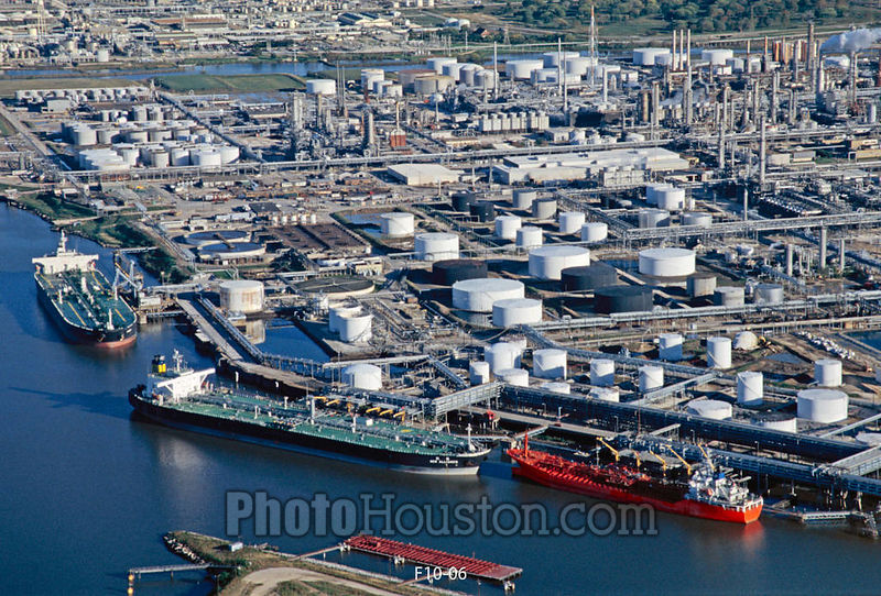 Houston Oil Terminal aerial photo