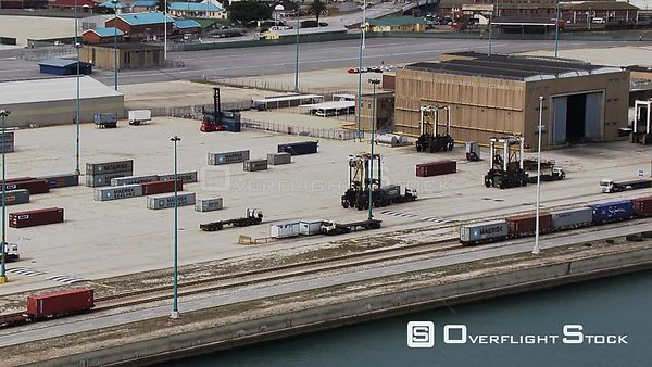 Vehicles moving in a shipping yard South Africa