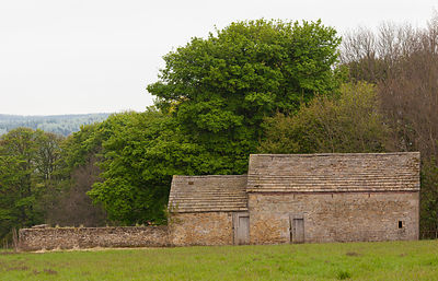 Stone barns on Wheatland Lane near Hassop