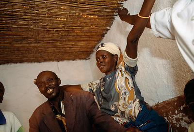 Rwanda - Kibileze - A party on the house of Mr Epafroditte with the members of the AIDS Association, 'Abiyemeje