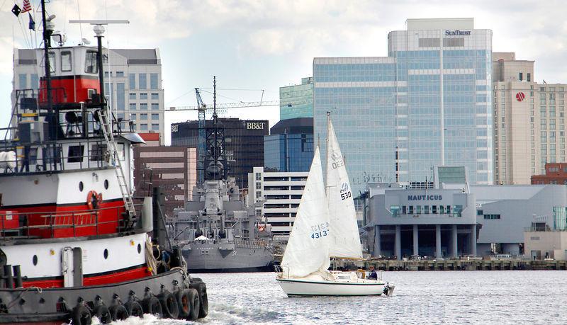 Norfolk VA Images   water-tug-wisconsin-sailboat-naut