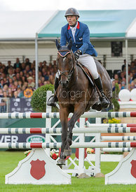 Denis Mesples and OREGON DE LA VIGNE - show jumping phase, Burghley Horse Trials 2013.
