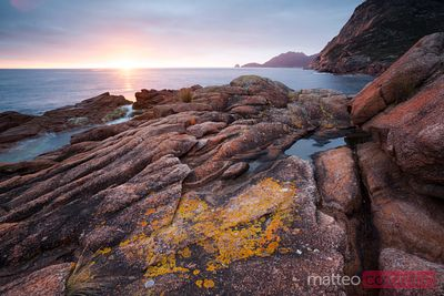 Sunrise over the coast of Tasmania