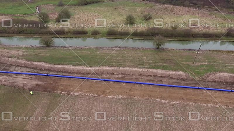 Water Pipeline Construction Rugby Warwickshire England