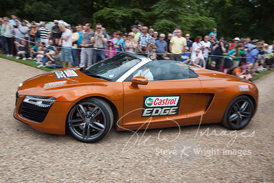 Le Mans winner Allan McNish in an Audi R8 Spyder at the Wilton Classic and Supercar 2013 - Wilton House, Salisbury, Wiltshire...