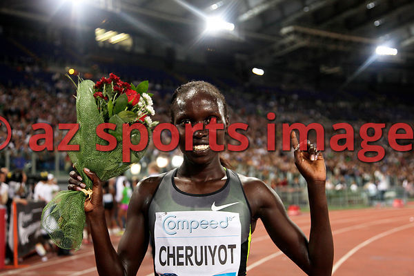 2012 Rome Golden Gala - Rome Diamond League,5000 Metres.Vivian Jepkemoi Cheruiyot from KEN wins the race 14:35.62