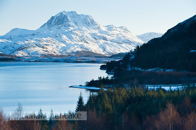 BP2299b - Slioch, from Loch Maree, Winter