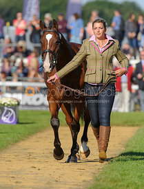 Sarah Stretton and SKIP ON II - The final trot up, Burghley Horse Trials 2013.