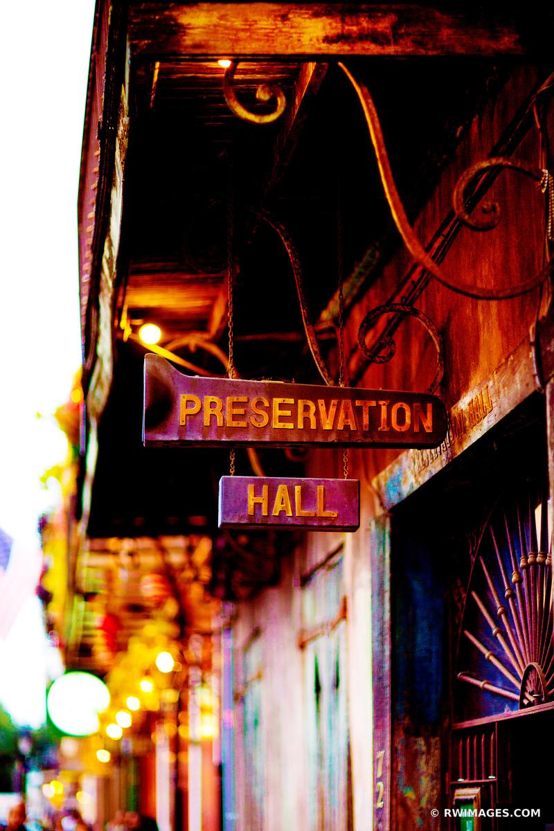 PRESERVATION HALL FRENCH QUARTER NEW ORLEANS COLOR VERTICAL