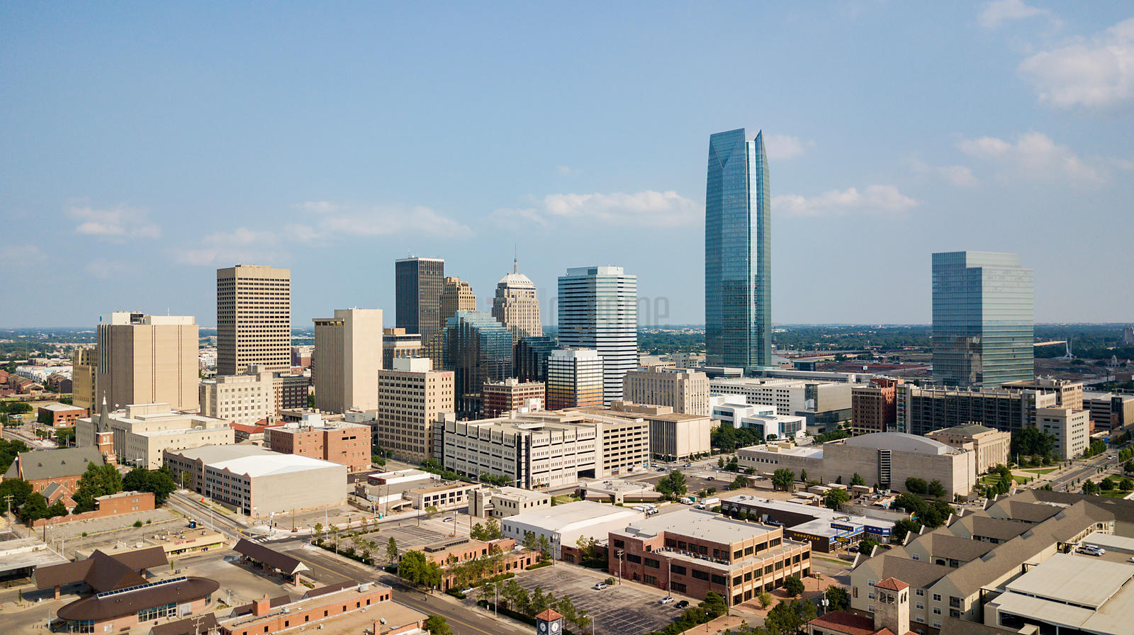 Elevated View of the Oklahoma City Skyline