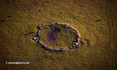 Advent Ring Cairn Cornwall from the air