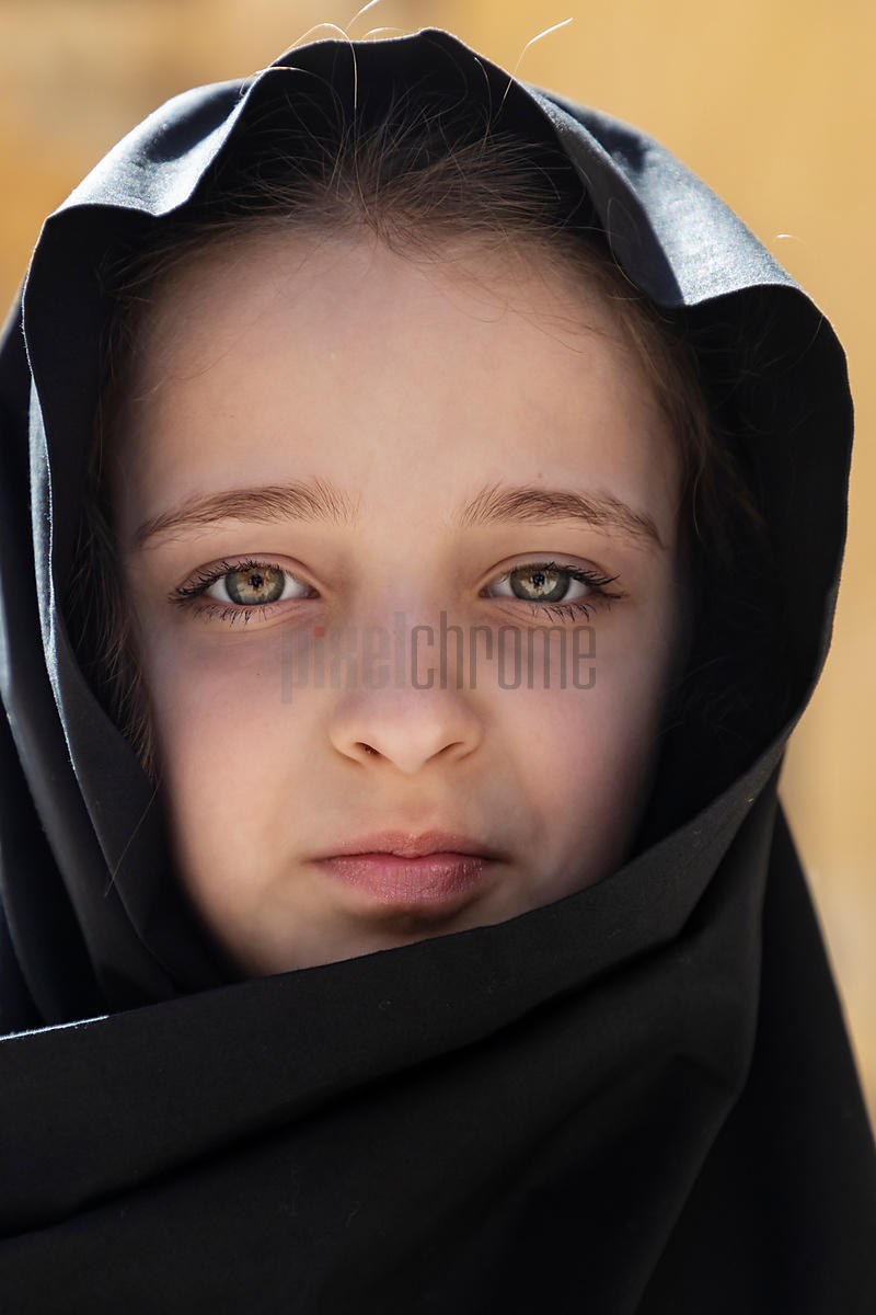 Portrait of a Young Child during an Easter Parade