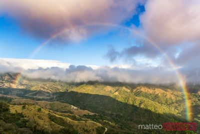 Rainbow over Monteverde cloud forest, Costa Rica