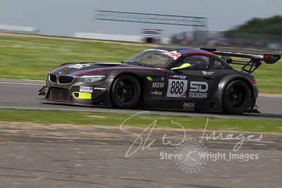 Triple Eight Race Engineering BMW Z4 GT3 in action at the Silverstone 500 - the third round of the British GT Championship 20...
