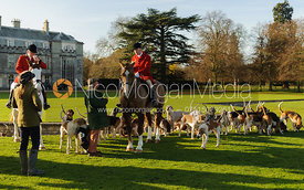 The hounds in front of Milton Hall