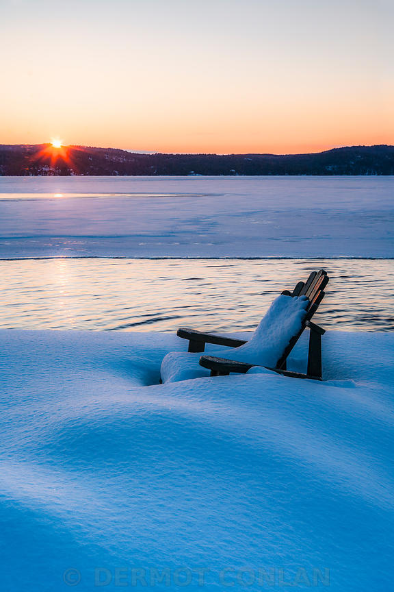 Adirondack Chair in Winter