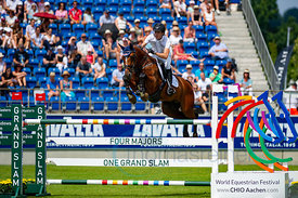 21/07/18, Aachen, Germany, Sport, Equestrian sport CHIO Aachen 2018 - U25 Springpokal,  Image shows Gerrit Nieberg. Copyright...