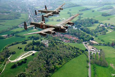 Two Lancasters over West Wycombe