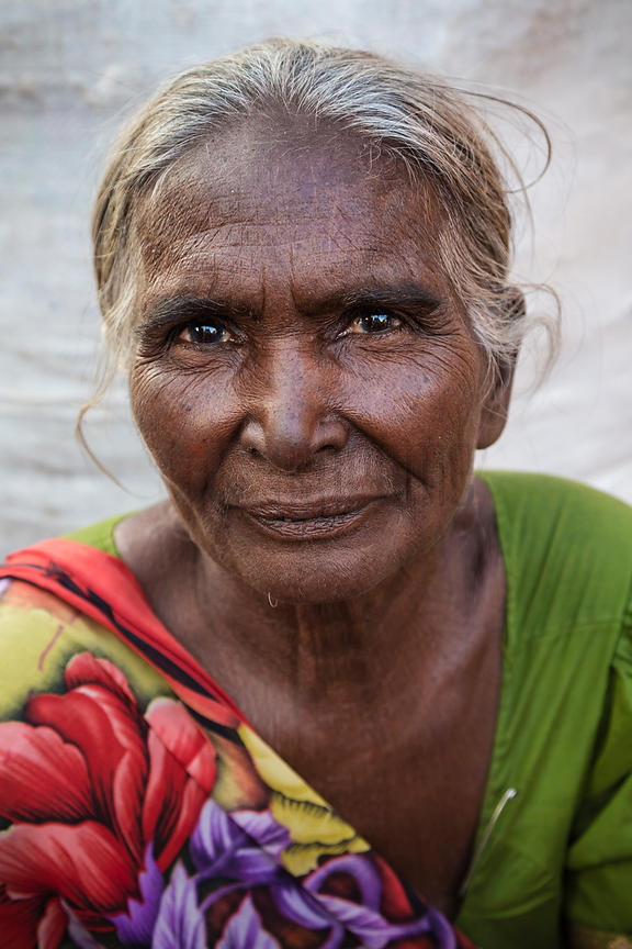 Portrait of a Woman at a Market