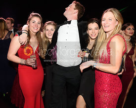 Grace Perry, Fiona Dallyn, Edward Winterton, Zara Dorrington, Flora Young. The Quorn Hunt Ball