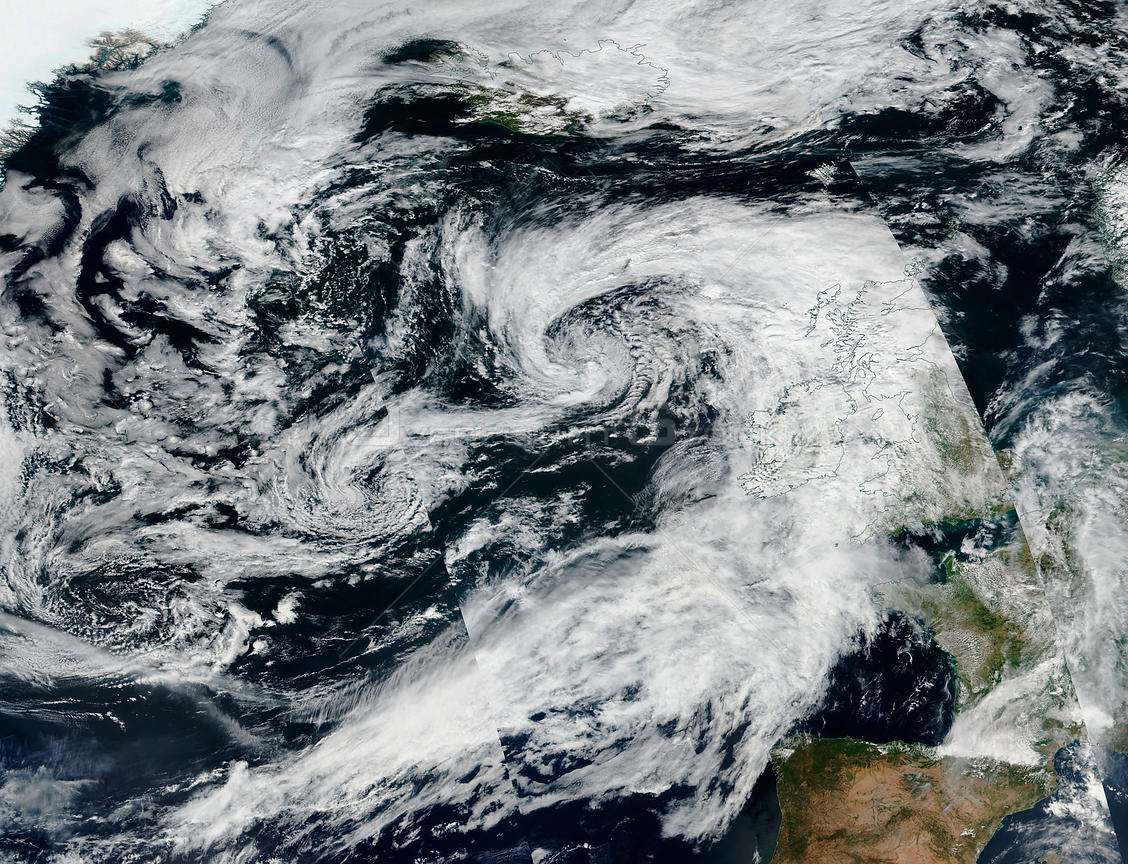 Huge Low Pressure System Over Britain Continues To Make For Rainy August