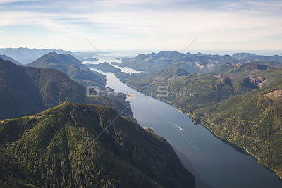 Tahsis Inlet West Coast Vancouver Island BC