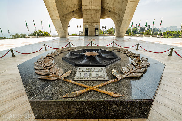 Close up of centre of the Martyrs Memorial (Maqam Eqjahid), in Algiers, Algeria, North Africa