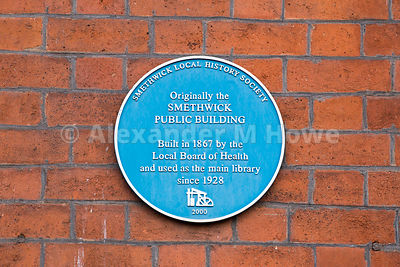 Blue plaque for the Smethwick Public Bulding