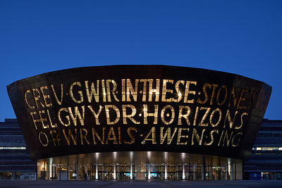 Commercial Photography for the Wales Millennium Centre in Cardiff