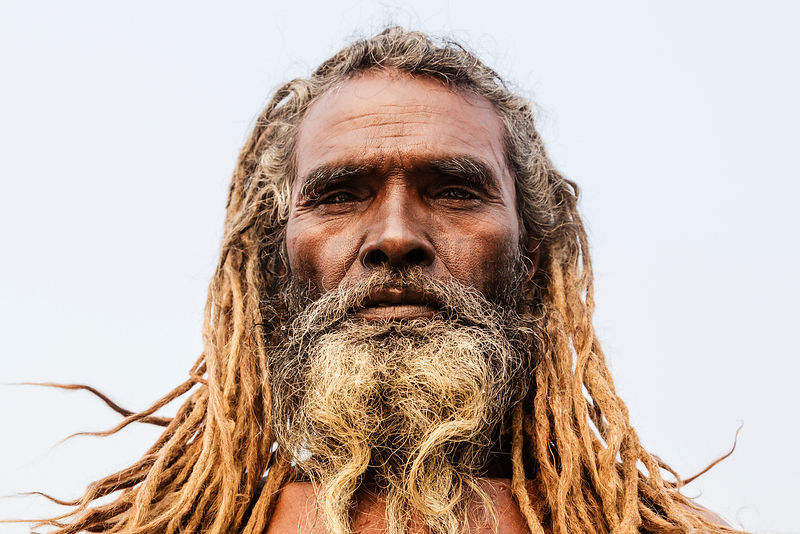 Naga Sadhu on the bank of the Ganges