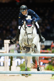 Bordeaux, France, 2.2.2018, Sport, Reitsport, Mercedes-Benz CSI Zurich - Prix FOIRE INTERNATIONALE DE BORDEAUX. Bild zeigt Max KUEHNER (AUT) riding Chardonnay 79...2/02/18, Bordeaux, France, Sport, Equestrian sport Mercedes-Benz CSI Zurich - LPrix FOIRE INTERNATIONALE DE BORDEAUX. Image shows Max KUEHNER (AUT) riding Chardonnay 79.