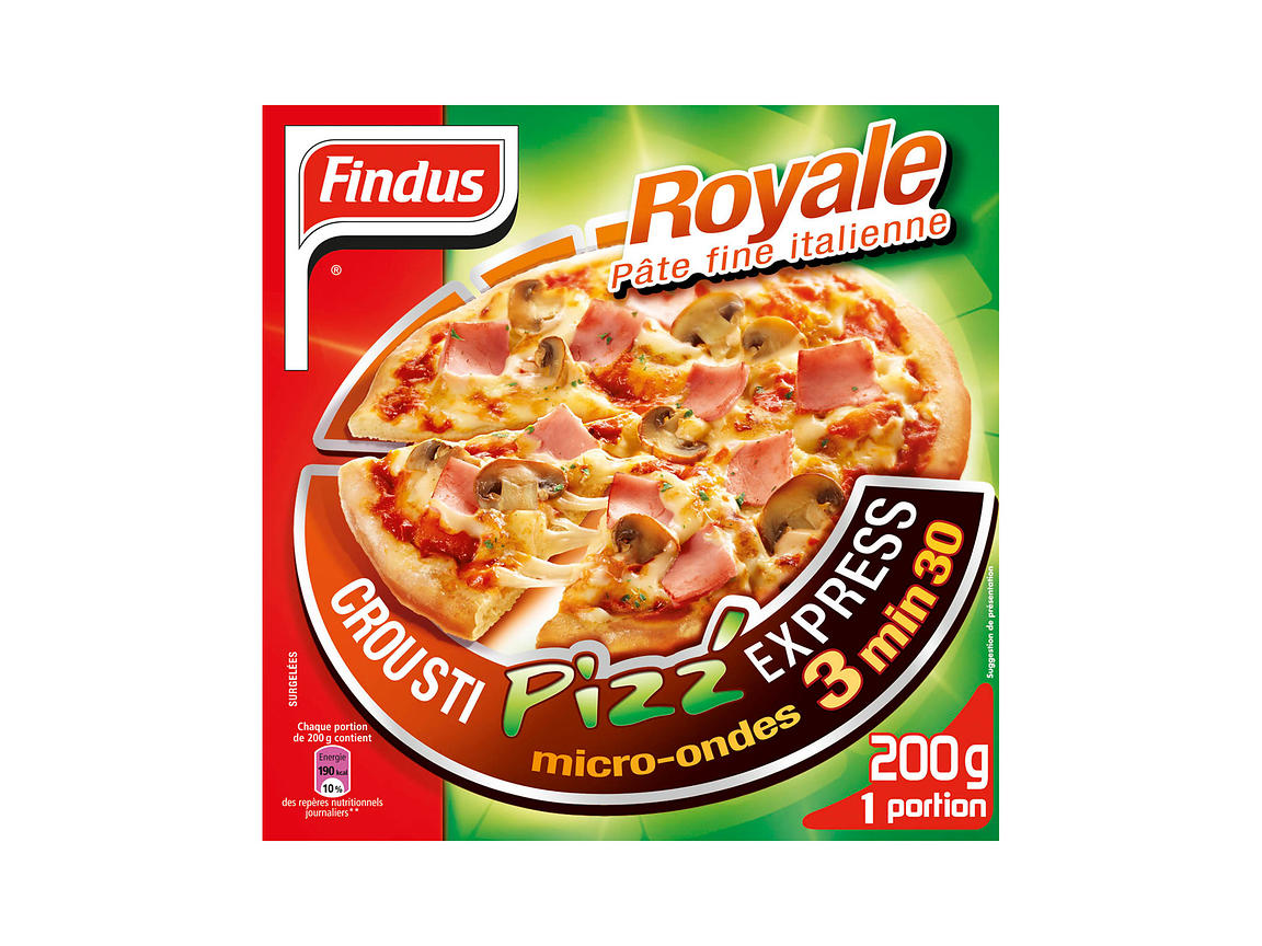 packaging pizza Findus