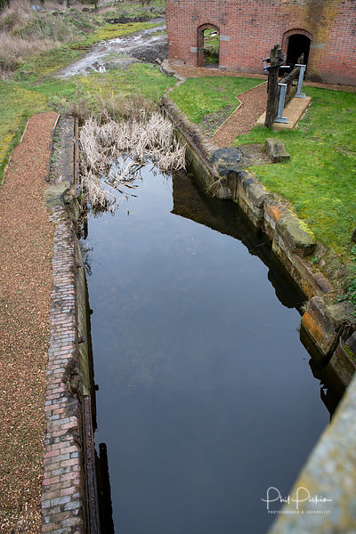 Disused section of canal at Wappenshall Wharf in Shropshire.
