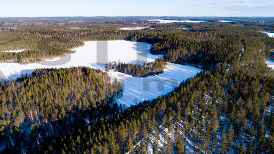 Lake Harjujärvi in March