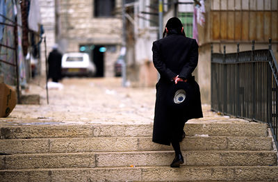 Orthadox Jew in the shetl of Meir Sharim, Jerusalem