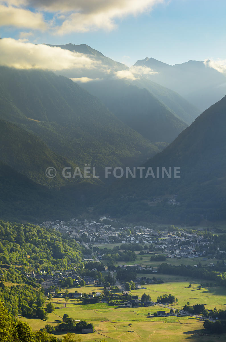 Saint Lary Soulan ski village and mountains at summer , France