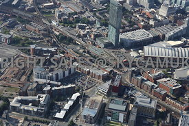 Deansgate Railway and Castlefield Metro Station and First Street and Medlock Street South Manchester