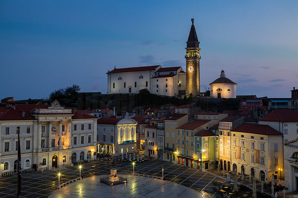 Elevated View of Tartini Square at Dawn