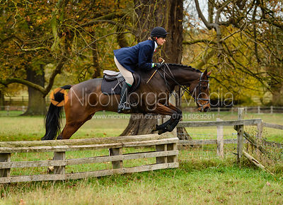 Georgie Fenn jumping a fence near The Kennels.