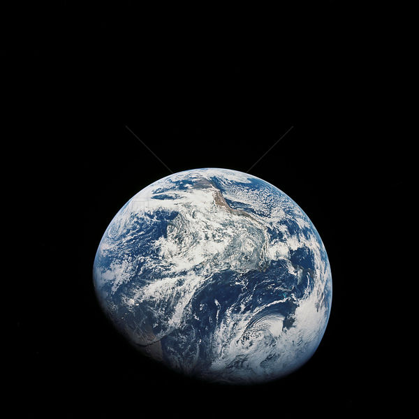 21-27 Dec. 1968) --- A striking view from the Apollo 8 spacecraft showing nearly the entire Western Hemisphere, from the mout...